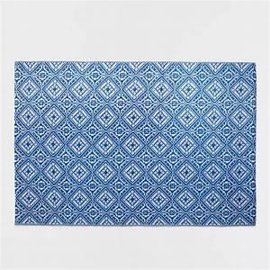 Tapis Plastique Exterieur : tapis plastique motif bleu int rieur et ext rieur tapis d coration zara home france ~ Teatrodelosmanantiales.com Idées de Décoration