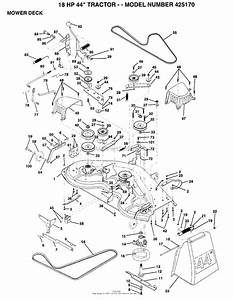Ayp  Electrolux 425170  1994  Parts Diagram For Mower Deck
