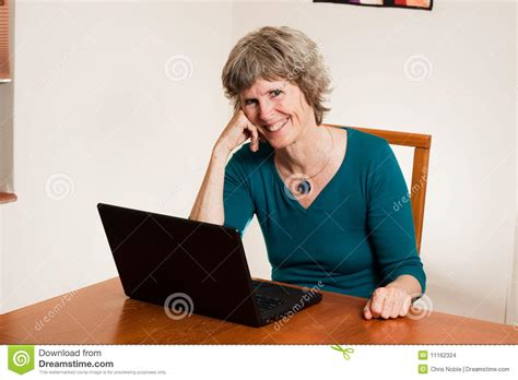 Happy Computer User Stock Images