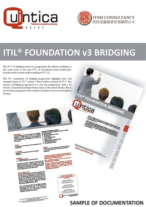 Itil Foundation Certification Programs