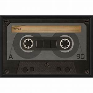 The Artwork Factory Cassette Tape Blank Framed Graphic Art ...