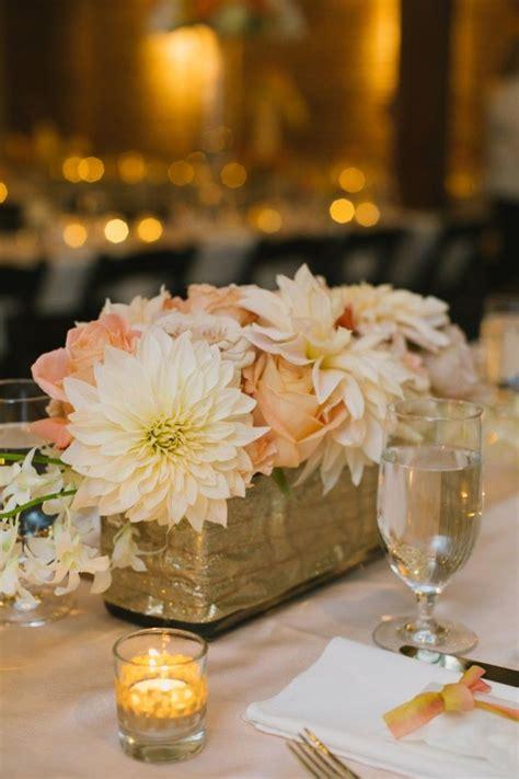 romantic rose gold seattle wedding wedding centerpiece