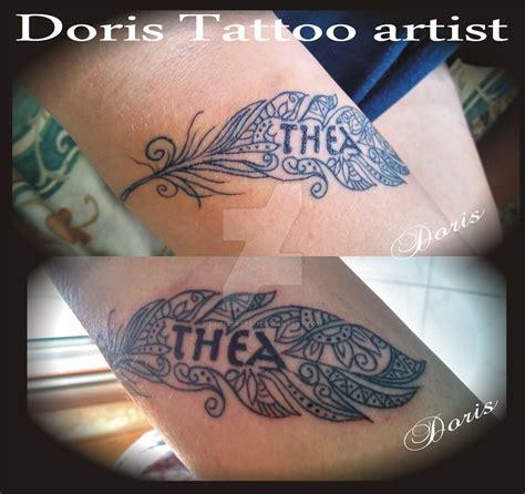 maori feather arm tattoo  doristattoo  deviantart