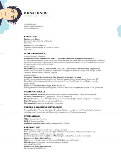 Boy Check The Resume by Free Resume Templates For Creative Minds