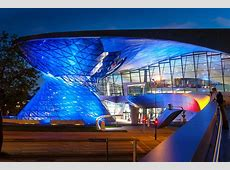 Munich, Bmw Welt, Architecture, blue, illuminated free