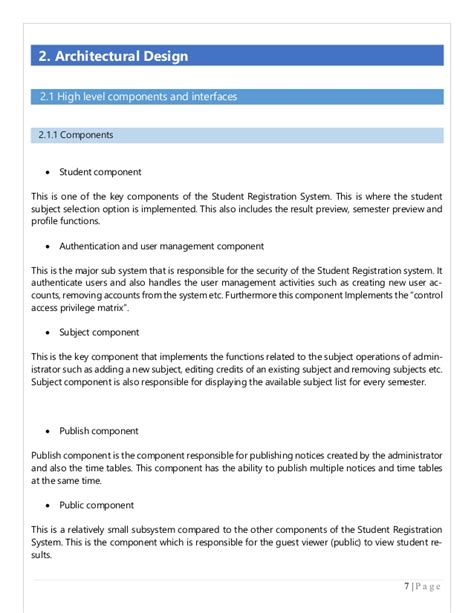 Low Level Design Document Template For Java Example For