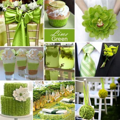 your wedding color story part 2 lime green weddings
