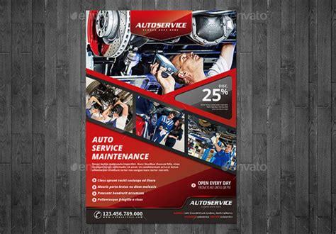 car repair flyer templates adobe photoshop