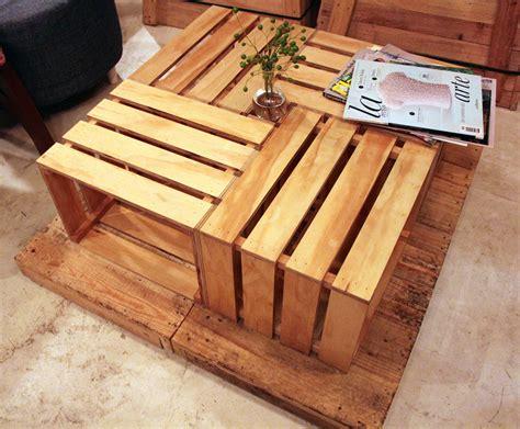 que hacer con huacales mesa de centro huacales