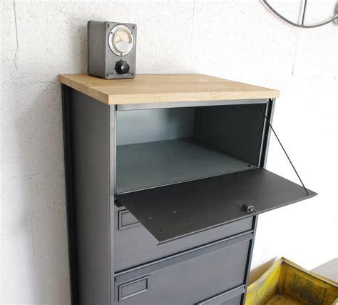 jpg bureau meuble clapets administratifs métal restauré meuble de