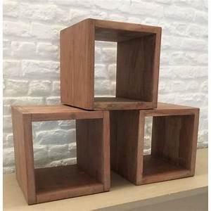 Cube Etagere Bois : cube tag re en bois ~ Teatrodelosmanantiales.com Idées de Décoration