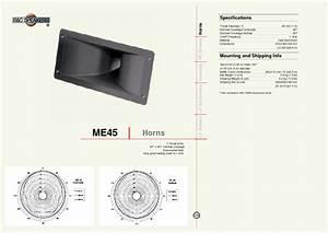 Horns Me45 Manuals