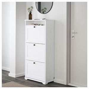 Casier A Chaussure : brusali armoire chaussures 3 casiers blanc 61 x 130 cm ~ Nature-et-papiers.com Idées de Décoration