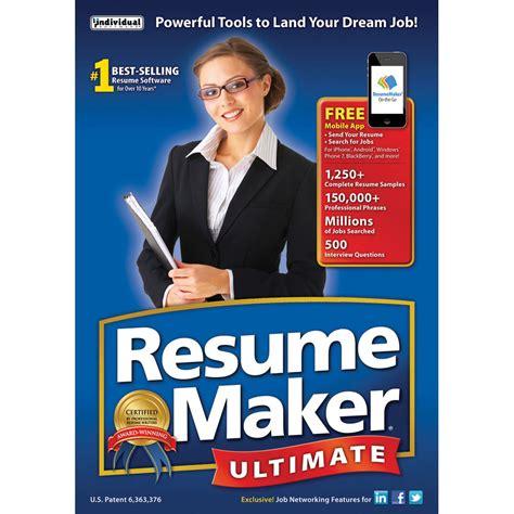 resume maker ultimate 6 individual software resumemaker ultimate 6