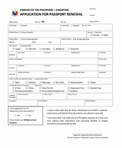 sample passport renewal form 8 free documents in pdf With documents for passport application