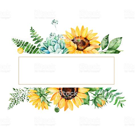 beautiful watercolor frame border