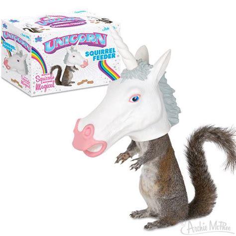 unicorn squirrel feeder archie mcphee