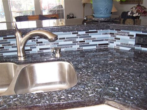 blue pearl granite with matching backsplash kitchens