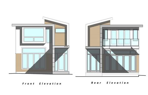 project custom modern home elevation drawings