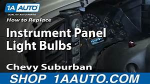How To Replace Instrument Panel Bulbs 00