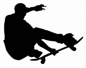 Skateboard Silhouette Clip Art Pictures to Pin on ...