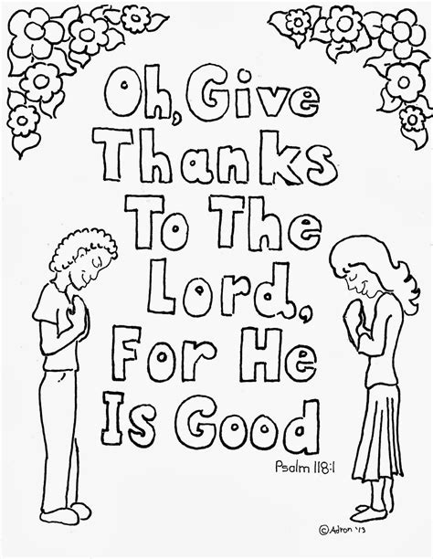 Give Thanks To The Lord Bible Verse Coloring Page Coloring Pages For By Mr Adron Psalm 118 1 Coloring