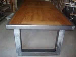 Table Bois Et Fer : fabrication de meuble bois et fer ameublement lot et garonne table haute ~ Teatrodelosmanantiales.com Idées de Décoration