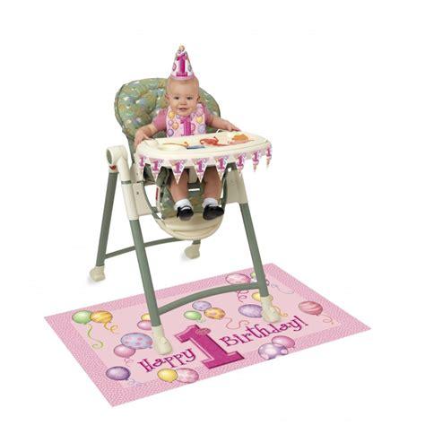 chaise haute fille kit de décoration chaise haute premier anniversaire bébé fille