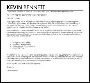 youth program coordinator cover letter sle livecareer