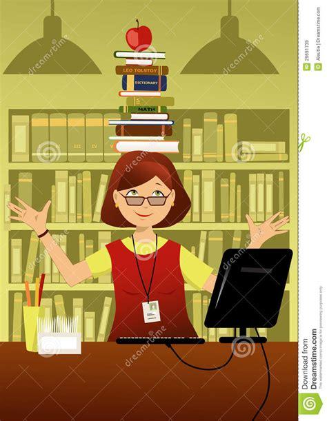 am駭agement bibliotheque bureau bibliothécaire d 39 amusement images libres de droits image 29691739