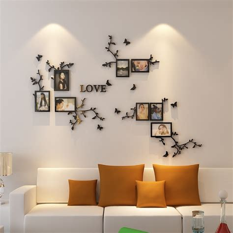 hot sale photo frame wall  acrylic crystal wall stickers