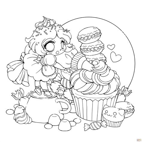 fairy anime chibi coloring pages for girls Chibi