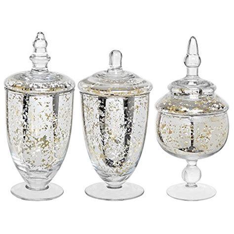 Decorative Mercury Silver Glass Apothecary Jars / Wedding