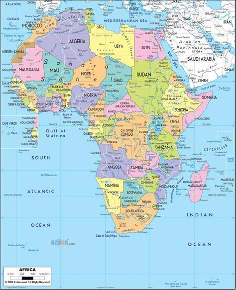 africa political map ap hug maps africa map african