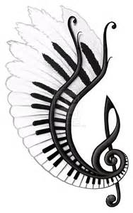 Music Notes with Wings Drawings