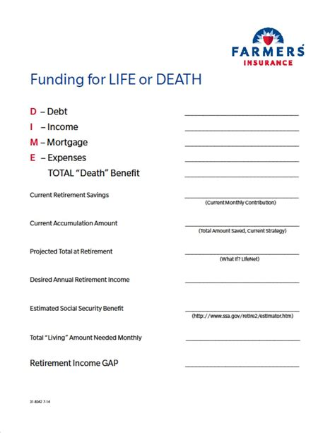 This worksheet can help you get a general sense of how much life insurance would be appropriate for your specific situation. LIFE   mysite
