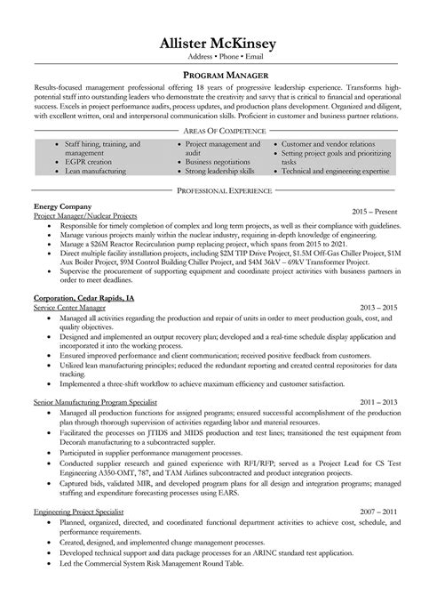 Resume Sle by Project Manager Resume How To Write A Project Manager