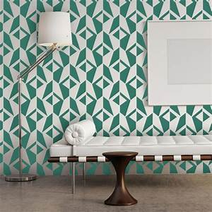 Wall Stencil Geometric Allover Pattern Jacqueline for Room ...