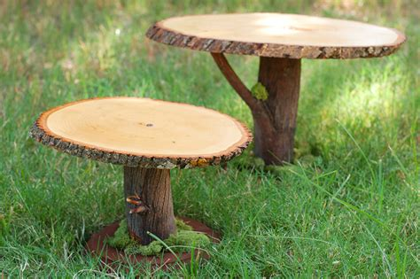 diy project rustic wooden cake stands from the cornish tikkido