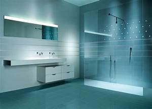 carrelage douche pour une salle de bain moderne ideeco With carrelage adhesif salle de bain avec lumiere a led exterieur
