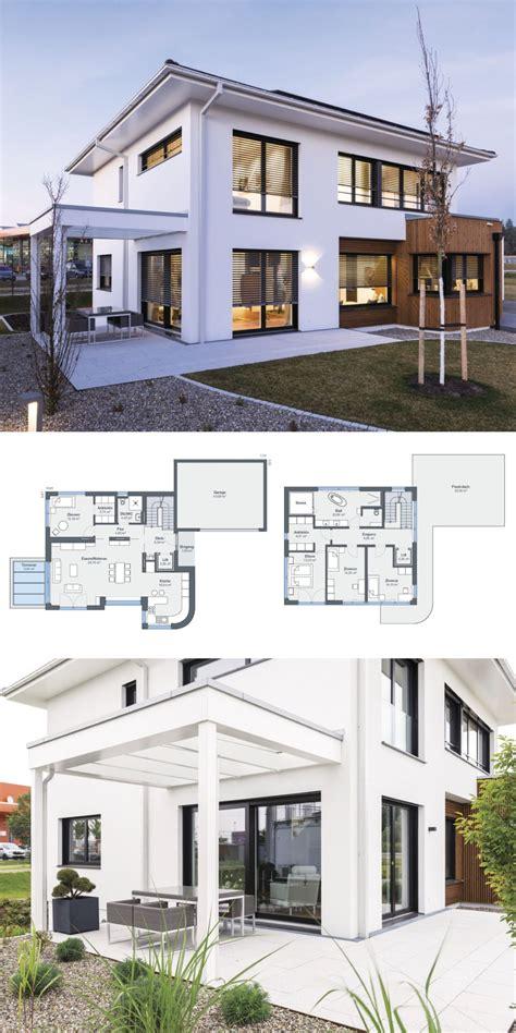 Modernes Haus Walmdach by Stadtvilla Neubau Modern Mit Garage Pergola Walmdach