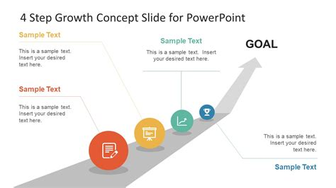 How To Add Template In Powerpoint by 4 Step Growth Concept Powerpoint Template Slidemodel