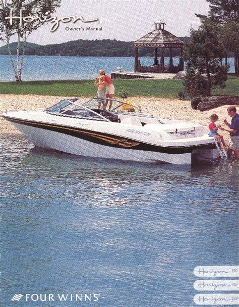 Four Winns Boat Owners Manual by Four Winns Horizon 180 190 200 Boat Owners Manual 2002 2003