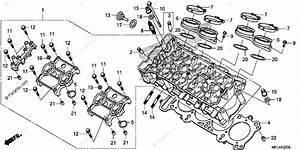 Honda Motorcycle 2011 Oem Parts Diagram For Cylinder Head