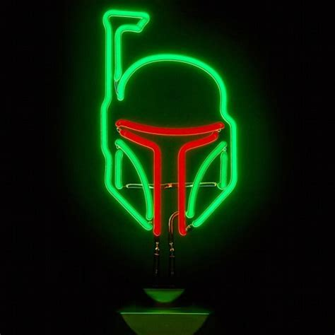 Star Wars   Boba Fett Neon Sign   Cool Stuff Dude