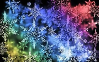 Wallpapers Snowflake Desktop Colorful Snowflakes Microsoft Google