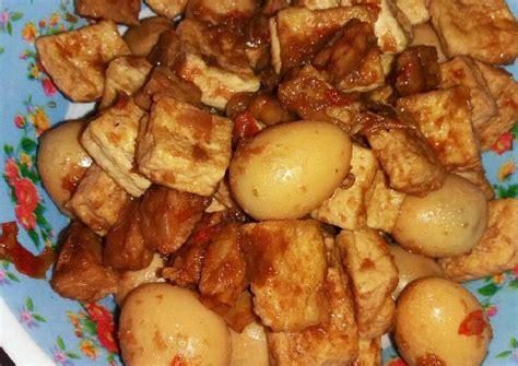 resep telur puyuh mix tahu tempe bumbu kecap oleh azaya