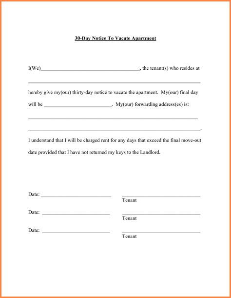 move out letter sle notice to vacate apartment apartment decorating ideas