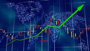 Economia Mundial Azul Do Mercado De Valores De Ac U00e7 U00e3o
