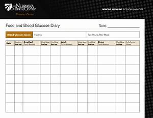 Diabetic food diary template printable food and blood for Diabetic diary template